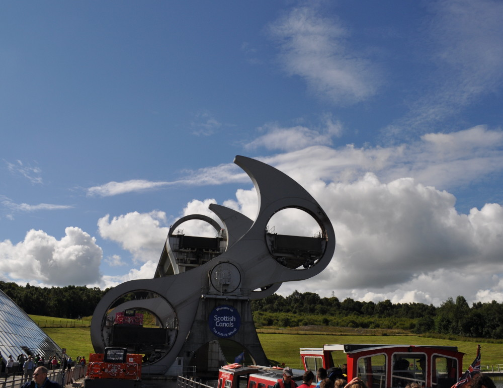 Falkirk Wheel near Falkirk, an easy walk or cycle from Elm Cottage