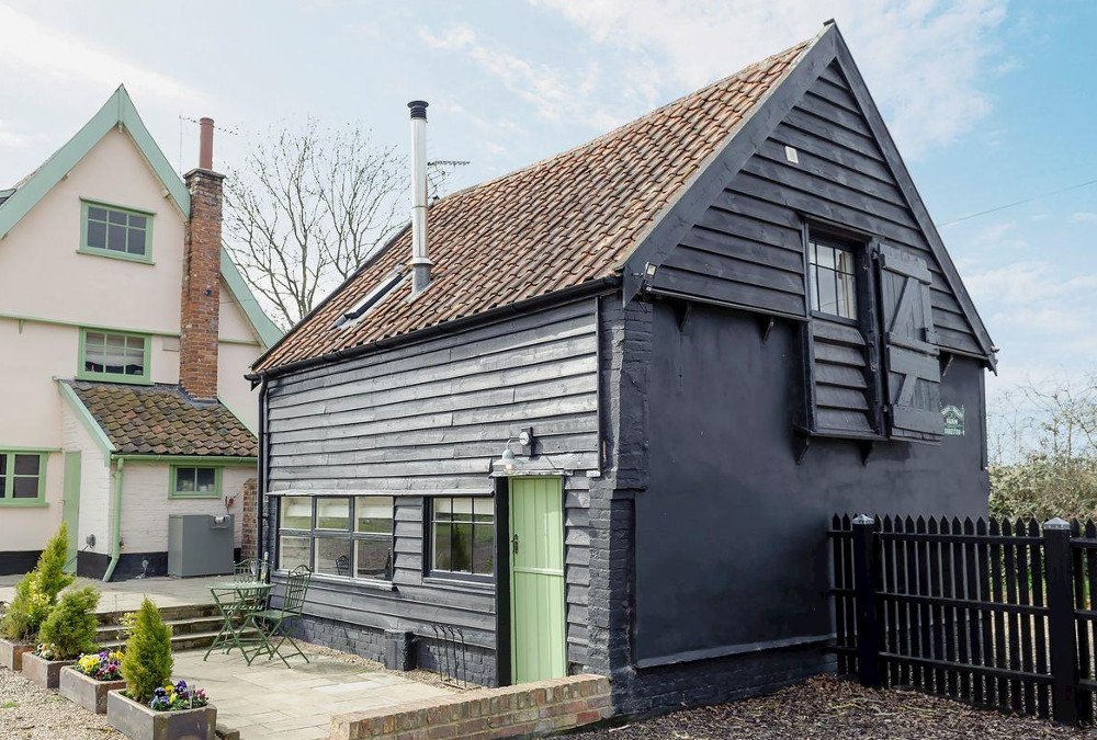 Green Valley in Ubbeston, Suffolk are three cottages - The Dairy, The Woodshed, The Cowshed