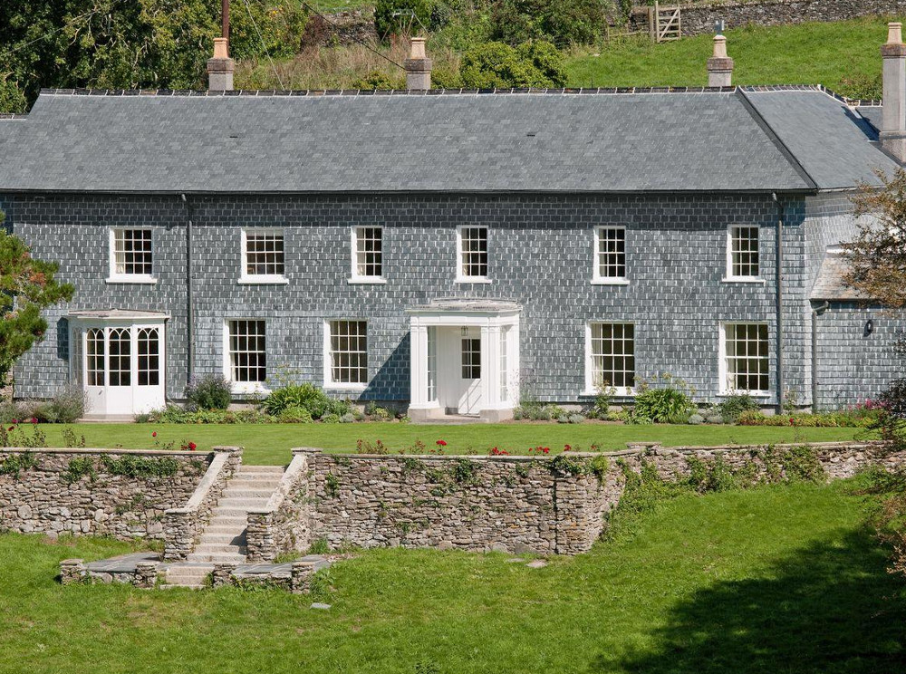 Flete Estate in Devon in acres of coastal and countryside grounds. Book Pamflete House