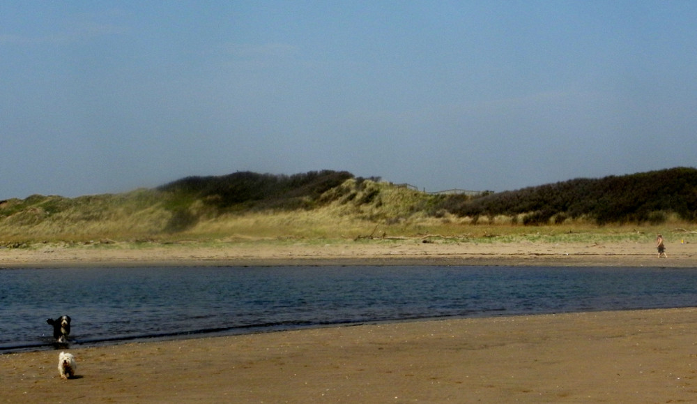 Prestwick beach is a very short walk from Fairways Cottages
